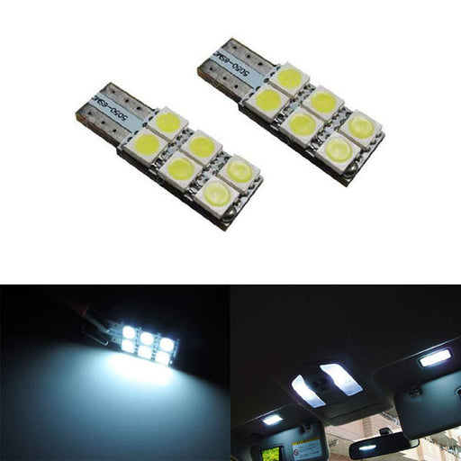 Side-Shine 6-SMD 5050 Side-Shine T10 LED Wedge Light Bulbs 168 194 2825 2827 W5W-iJDMTOY
