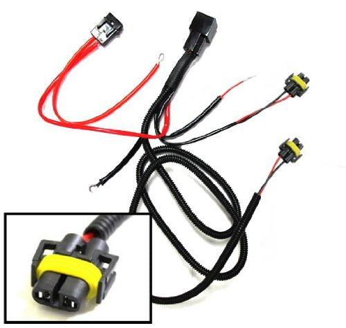 H11 880 890 Relay Wiring Harness For Xenon Headlight Kit, Add-On Fog A Headlight Wiring Harness on