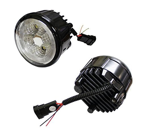 18W High Power 6-LED Fog Light Lamps Assy with LED Halo Rings For Infiniti G25 G37 FX35 FX45 FX45 M37 Nissan Juke Cube Quest Murano, Xenon White-iJDMTOY