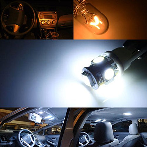 4PS XENON COOL WHITE LED SIDE LIGHT 15-SMD BULBS Part For MERCEDES C-CLASS W204