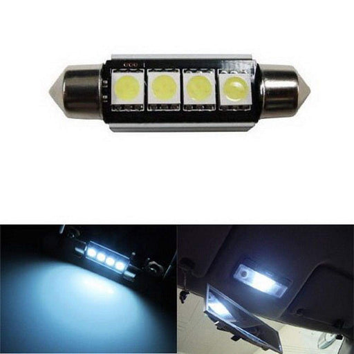 Error Free 4-SMD 42mm 6411 578 211-2 LED Bulb w/ Built-in Load Resistors For European Cars-iJDMTOY