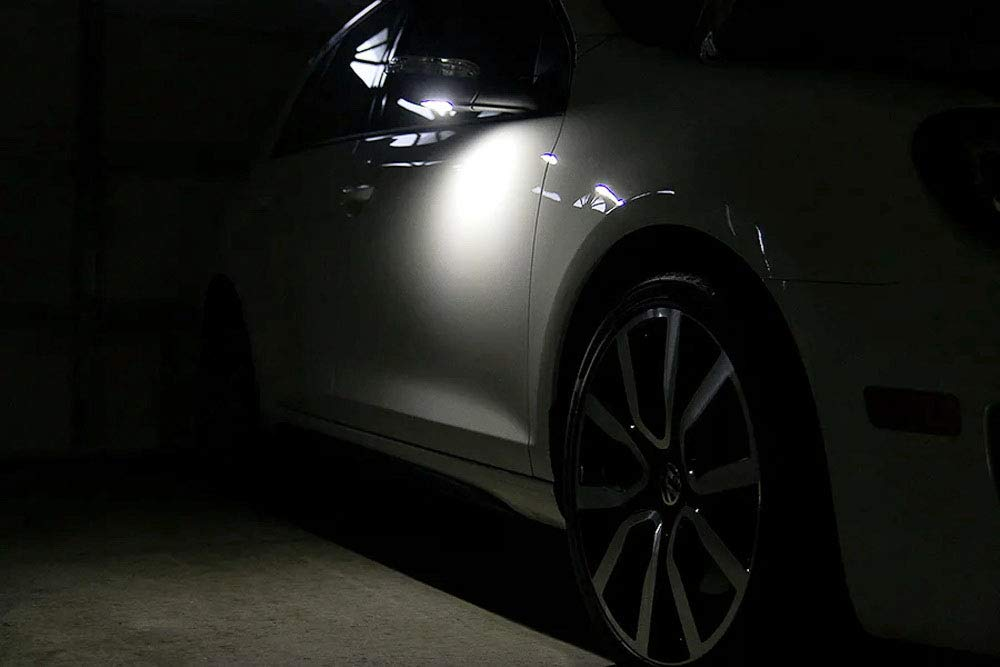 White LED Under Side Mirror Puddle Lights For Volkswagen MK5 Golf GTi R32  Jetta Passat EOS (Powered by 18 pcs Xenon White SMD LED Lights)