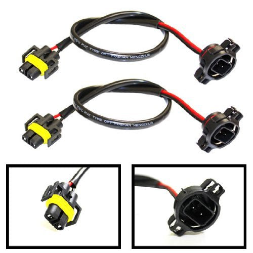 5202 to H11 Pigtail Sockets Wires For Subaru BRZ Scion FR-S Fog Lamps Conversion Retrofit-iJDMTOY