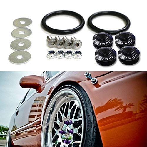 Black Quick Release Fasteners Kit For Mitsubishi VW Front Rear Bumper Fender