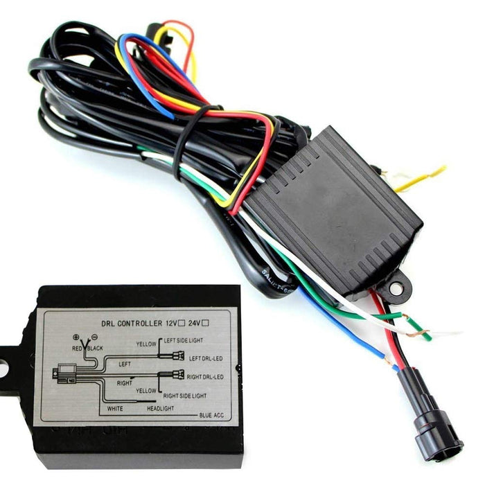 Universal LED Daytime Running Light Automatic ON/OFF Controller Module Box Relay-iJDMTOY