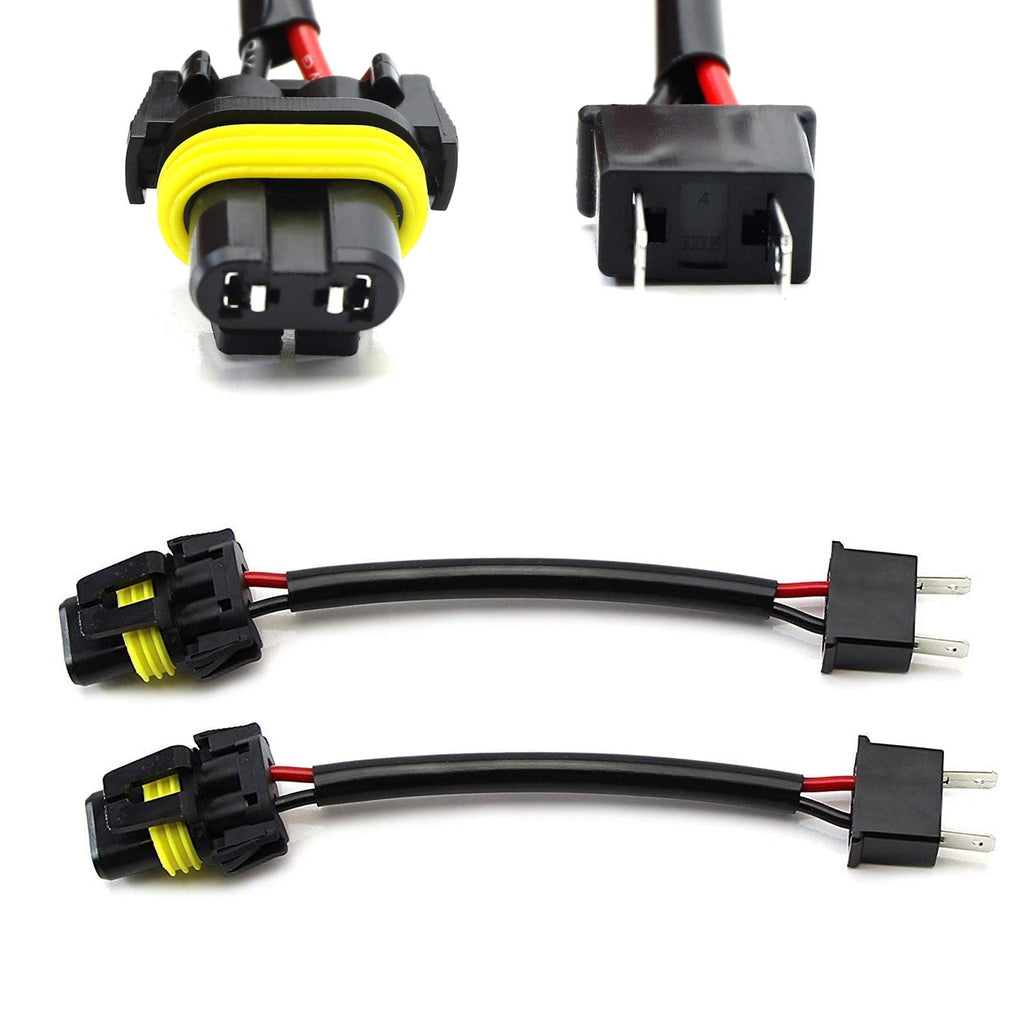 H7 To 9005/9006/HB4 Pigtail Wire Wiring Harness Adapters For Headlight H Socket Wiring Diagram on