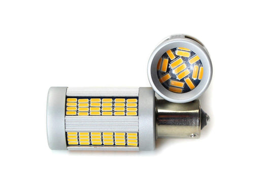 No Hyper Flash 25W High Power Amber 1156 CAN-bus LED Replacement Bulbs For Car Front or Rear Turn Signal Lights (No Load Resistor Required)-iJDMTOY