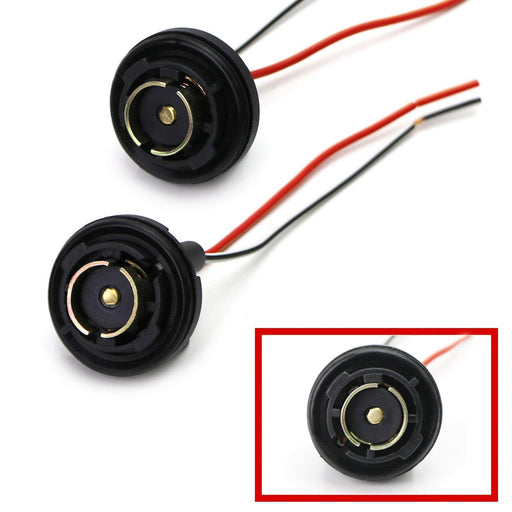 1156 7506 7527 P21W Metal Socket/Base w/Pigtail Wiring Harness for Turn Signal, Backup/Reverse Lights or LED Bulbs Retrofit, etc-iJDMTOY