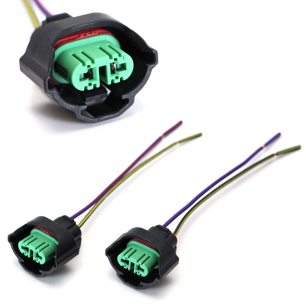 OEM H11 H8 Adapters Wiring Harness Sockets w/ 4