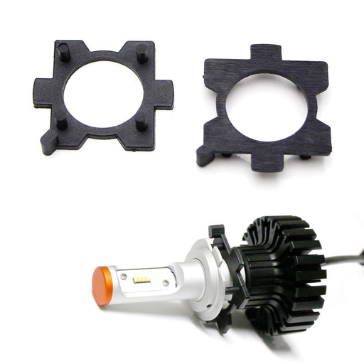 H7 LED Headlight Bulbs Adapters Holders Retainers For Mazda 3 5 6 MX-5 CX-5 CX-7 RX-8, etc (Low Beam)-iJDMTOY