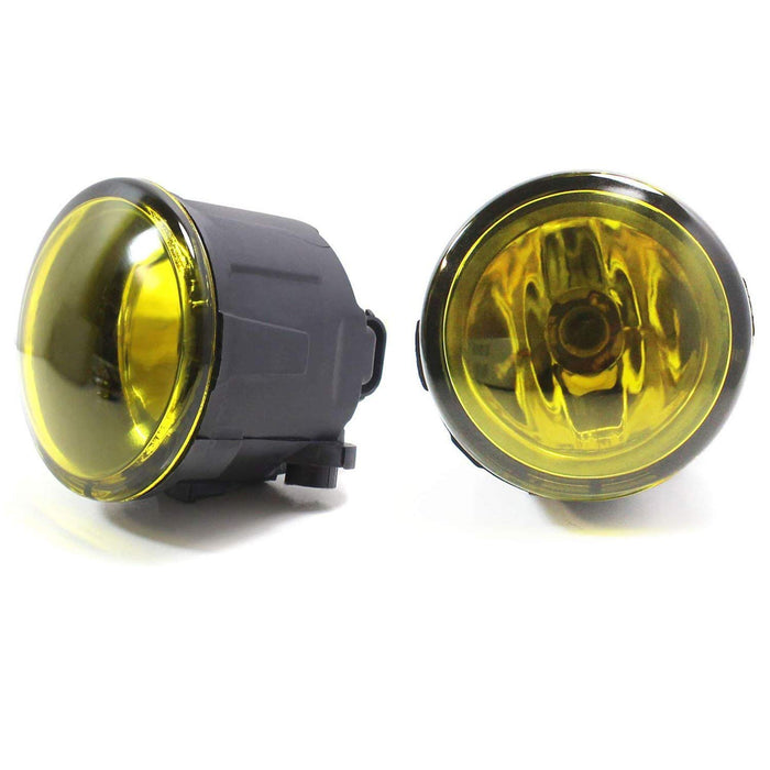 Pair of Clear or Yellow Lens Halogen Fog Lamps For Infiniti EX FX G M Q Nissan Cube Juke Murano Quest Versa etc., Driver Passenger Side Assembly w/ (2) 55W H11 Halogen Bulbs-iJDMTOY
