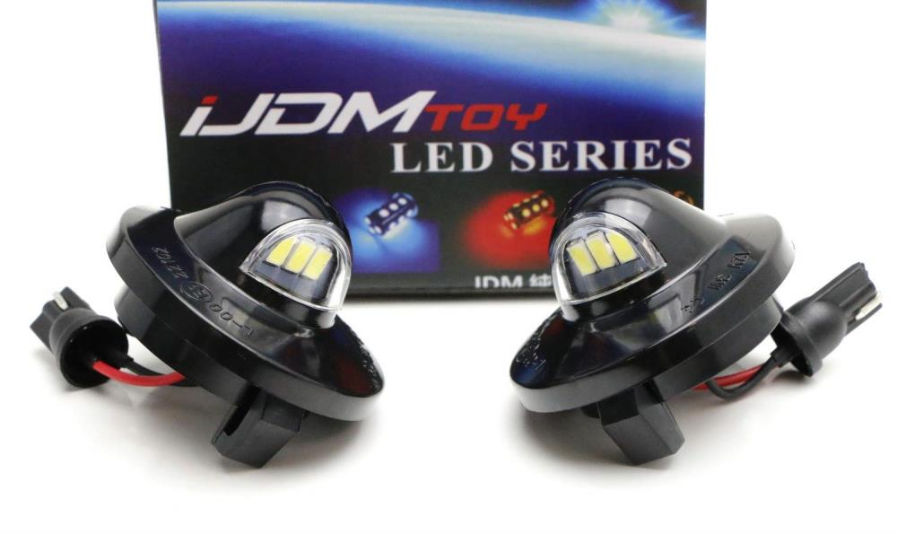 OEM-Fit 3W Full LED License Plate Light Assembly Kit For Ford F150 Ranger Raptor Explorer Sport Trac, Powered by 3pcs Xenon White LED Diodes-iJDMTOY