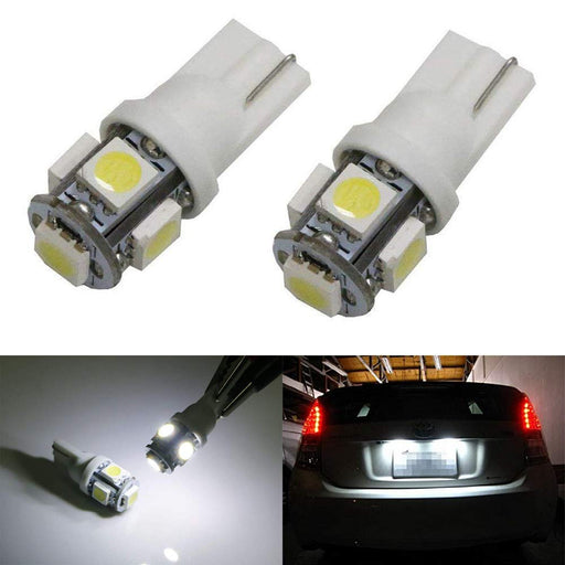 360-Degree Shine 5-SMD T10 Wedge Light LED Bulbs 158 168 175 194 2823 2825-iJDMTOY