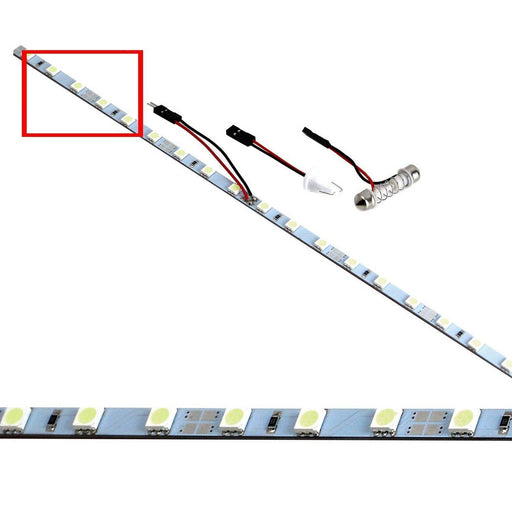(1) 18-SMD-5050 LED Strip Light For Car Trunk Cargo Area or Interior Illumination - White, Blue, Red or Aqua-iJDMTOY