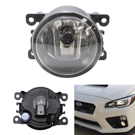 (1) Halogen Fog Lamp Replacement For Acura Honda Ford Nissan Subaru, w/ (1) 55W H11 Halogen Bulb, Good for LH or RH-iJDMTOY