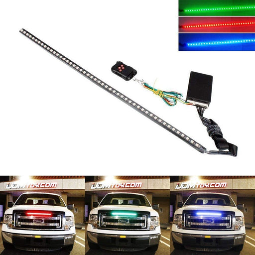 20 inches 48-LED RGB LED Knight Rider Scanner Lighting Bar For Car Interior or Exterior Decoration-iJDMTOY
