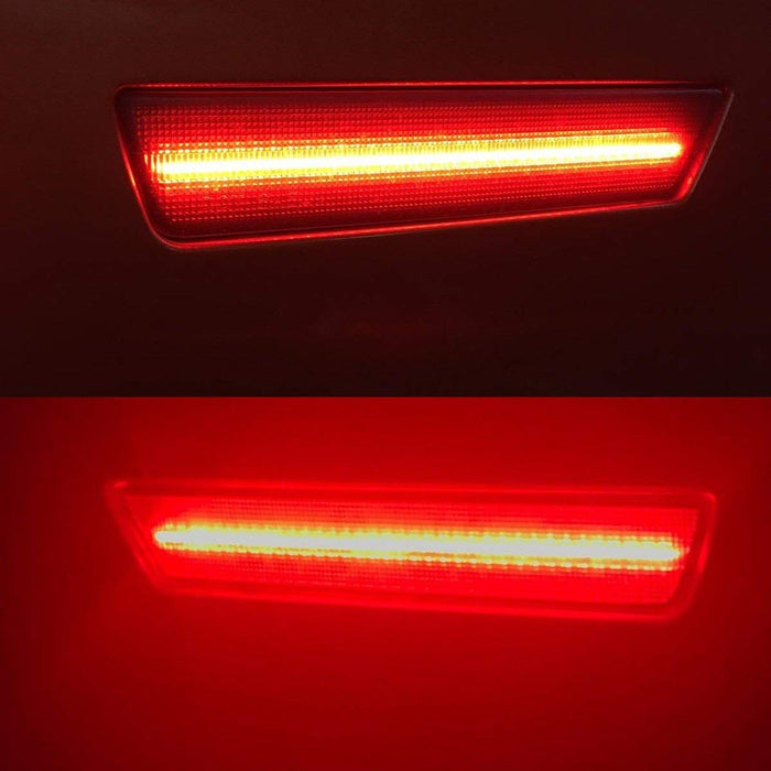 Red Full LED Rear Side Marker Light Kit For 2008-14 Dodge Challenger, 2011-14 Charger, Powered by 36-SMD LED, Replace OEM Back Sidemarker Lamps-iJDMTOY