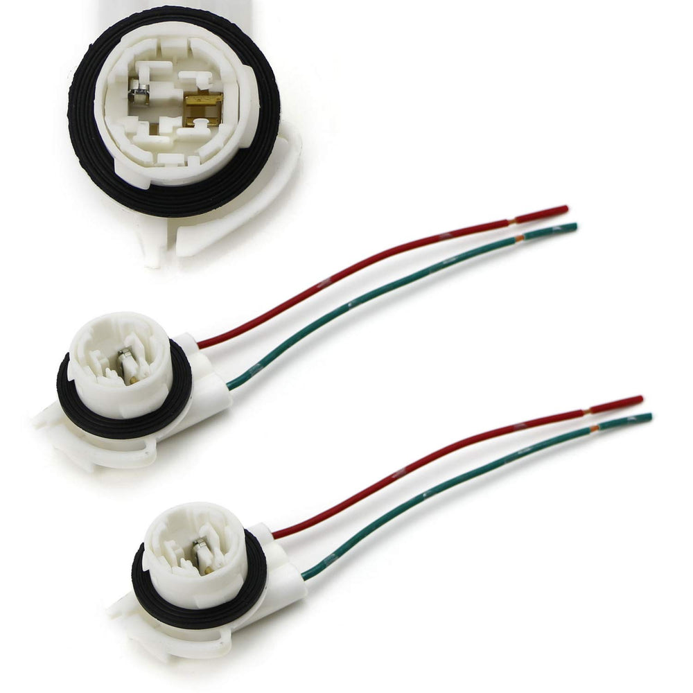 3156 2-Wire Harness Pre-Wired Sockets For Repair, Replacement, Install LED Bulbs For Turn Signal Lights, DRL Lamps or Taillights-iJDMTOY