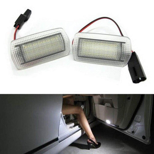 (2) Full LED Side Door Courtesy Light Assy For Lexus IS ES GS LS RX GX LX Toyota Avalon Sienna Venza Camry Prius 4Runner, OEM Replacement, Powered by 18-SMD Xenon White LED-iJDMTOY