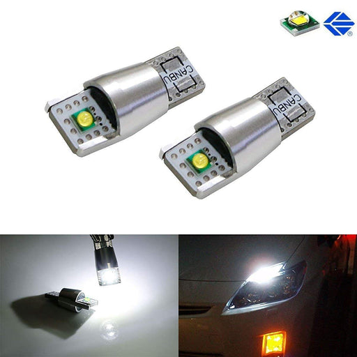 2-CREE 10W 168 194 2825 W5W LED Replacement Bulbs For Parking/Position Lights or License Plate Lights, Xenon White-iJDMTOY