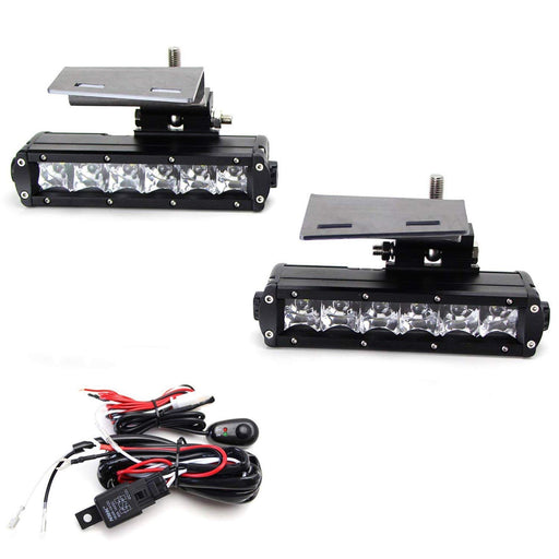 LED Light Bar Fog Lamps Kit For 99-02 Chevrolet Silverado 1500 2500, 00-01 3500, 00-2006 Suburban Tahoe, Includes (2) 30W CREE LED Light Bars, Fog Light Mount Brackets & Wiring On/Off Switch-iJDMTOY
