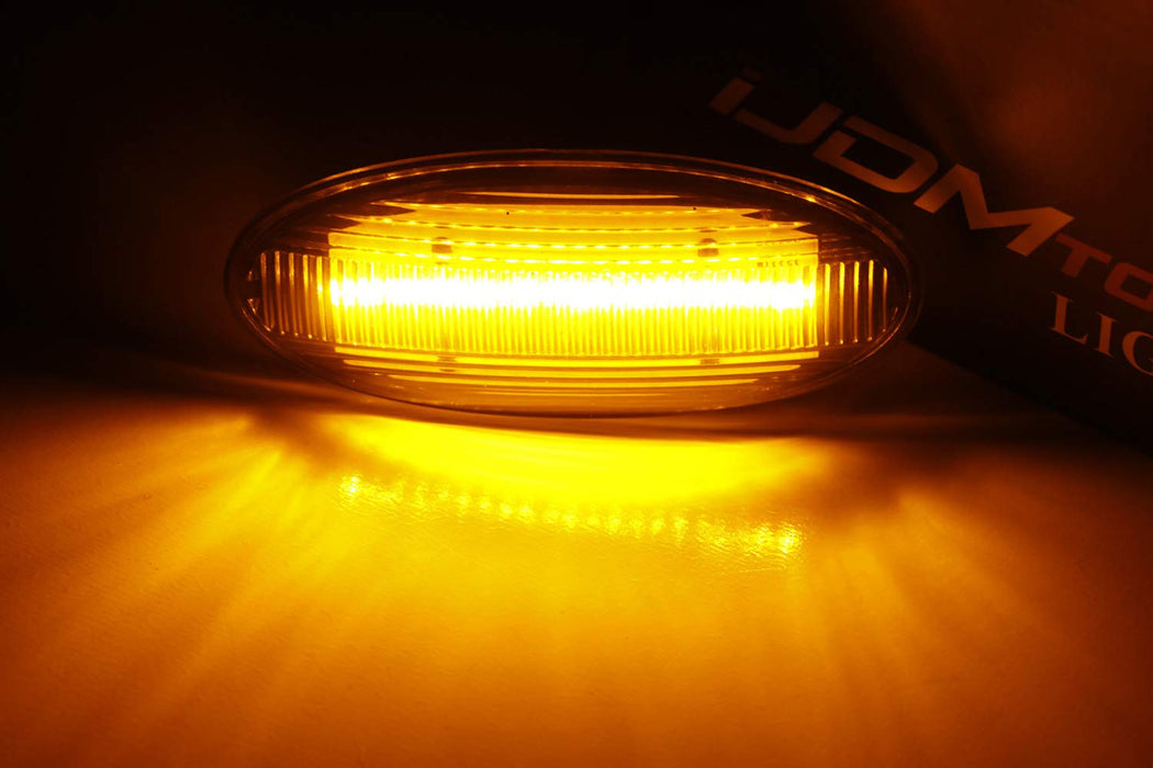Amber Full LED Front Side Marker Lights For Nissan Juke Cube Leaf, Powered by 20-SMD LED, Replace OEM Sidemarker Lamps-iJDMTOY