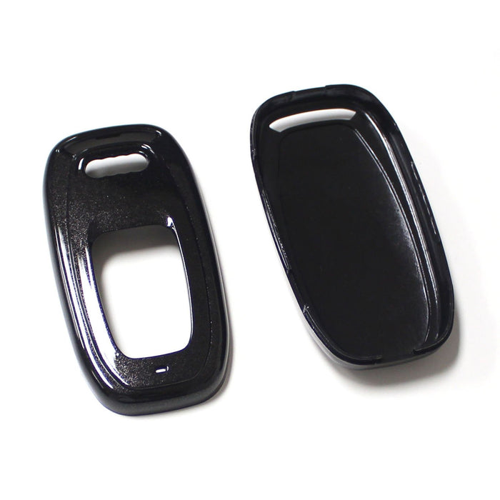 (1) Exact Fit Gloss Metallic Black Red or White Smart Remote Key Fob Shell For Audi A3 A4 A5 A6 A7 A8 Q5 Q7, etc-iJDMTOY