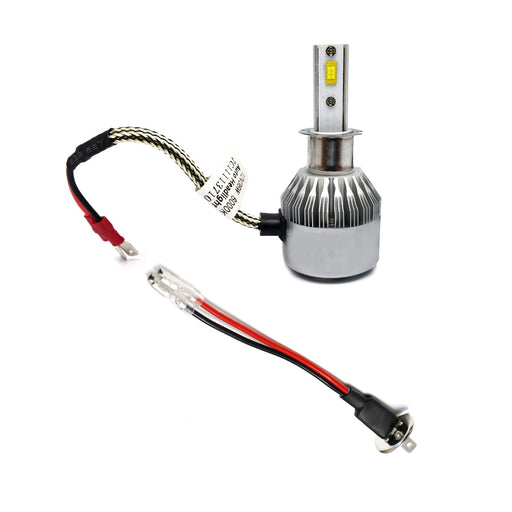 OEM H3 Socket/Adapter Wires For HID or LED Headlight Bulbs Installation Convesion-iJDMTOY