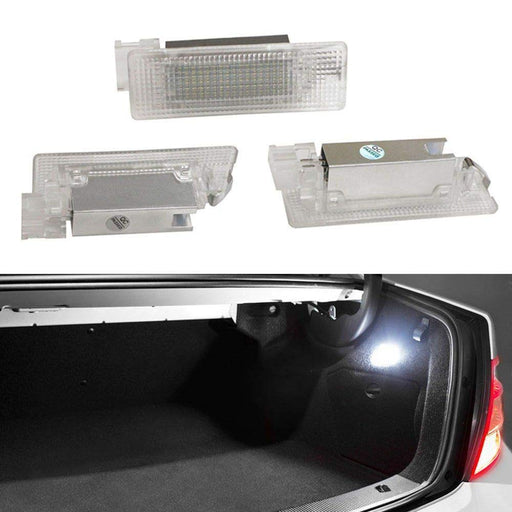 Full LED Trunk Cargo Area Lamp For Volkswagen Golf GTi Jetta Passat CC Touareg EOS Tiguan, OEM Replacement, Powered by 24-SMD Xenon White Lights & CAN-bus Error Free-iJDMTOY