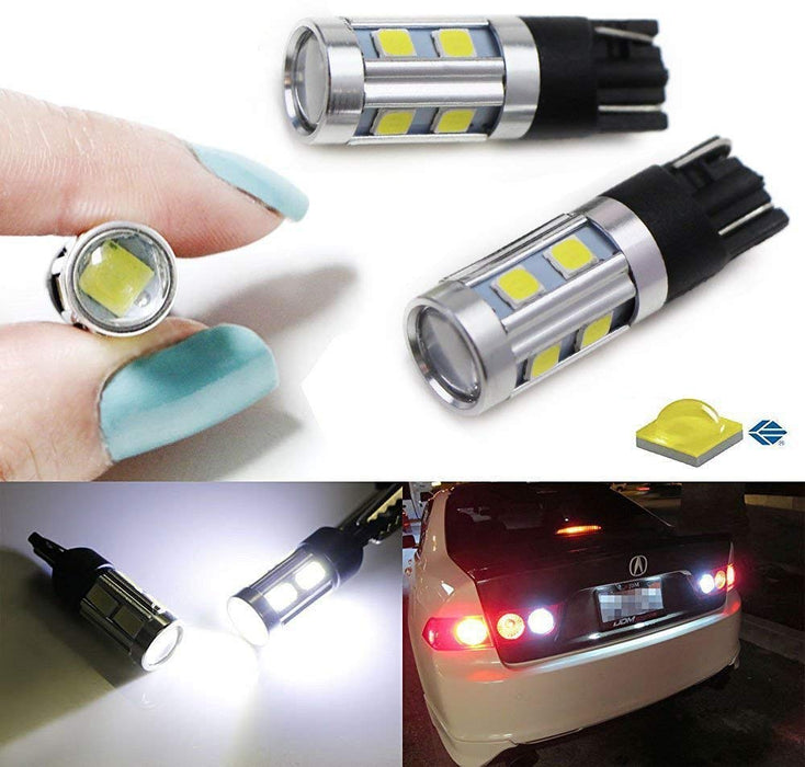 Xenon White 3W CREE with 8-SMD 168 194 2825 912 921 T10 LED Bulbs For Backup Reverse Lights or Parking Position Lights-iJDMTOY