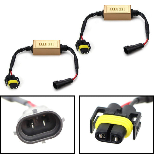 H11 H8 LED Headlight Canbus Error Free Anti Flicker Resistor Canceller Decoders (Plug-In-Play)-iJDMTOY