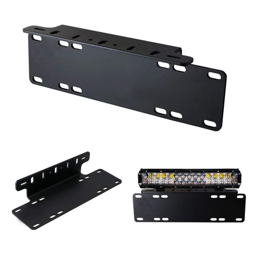 Heavy Duty Front Bumper License Plate Mount Bracket Holder For LED Light Bar, LED Work Lights, Off-Road LED Lights, etc-iJDMTOY