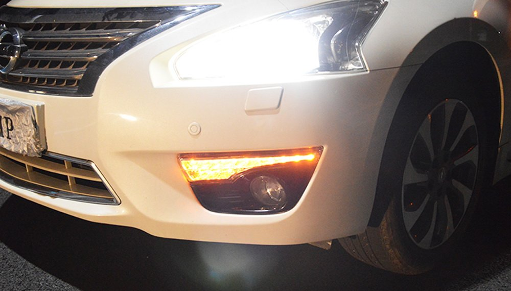 Exact Fit Switchback LED DRL Fog lamp w//Turn Signals For Nissan Altima 2013-2015