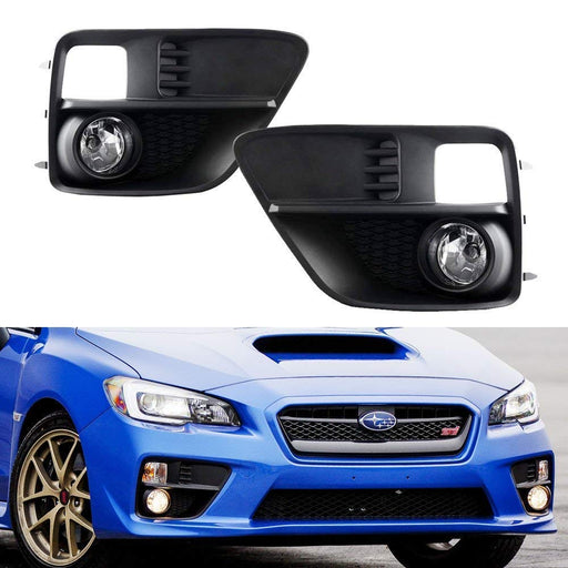 Complete Set Clear or Yellow Lens Fog Lights Foglamp Kit with H11 Bulbs & Wiring On/Off Switch For 2015-2017 Subaru WRX Base-iJDMTOY