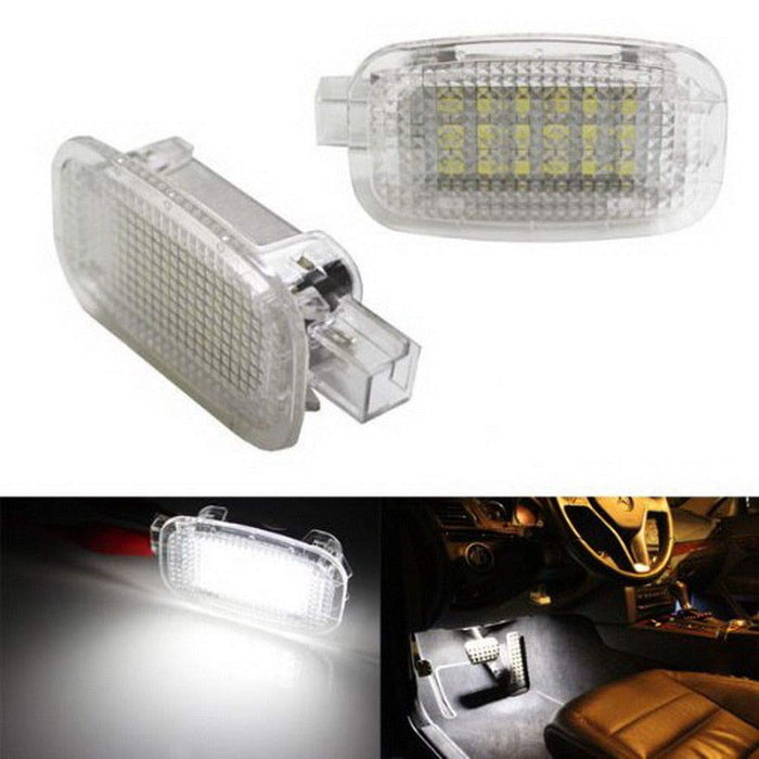(2) Full LED Side Door Courtesy Lamp For Mercedes-Benz C E S R G ML CL SL GL GLK Class, OEM Replacement as Footwell, Vanity Mirror, Trunk or Glovebox Light, Powered by 18-SMD White LED Lights-iJDMTOY
