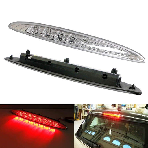 Clear or Smoked Lens Red LED 3rd Brake Lamp For 02-06 MINI Cooper R50 R53 1st Gen, OEM Fit High Mount Brake Light Powered by 8 Brilliant Red LED Lights-iJDMTOY