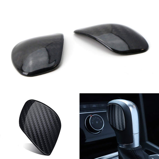 Real Carbon Fiber Side Cover Panels For 2015-up Volkswagen MK7 Golf GTI Jetta Passat CC EOS Beetle Tiguan Touareg Automatic Gear Shift Knob Shifter Handle-iJDMTOY