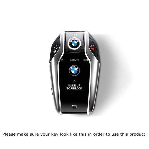 Glossy Metallic Black Red or White Exact Fit Key Fob Shell Cover For 2016-up BMW G11/G12 7 Series 740i 750i, 2014-up BMW i8 Touchscreen Smart Key-iJDMTOY