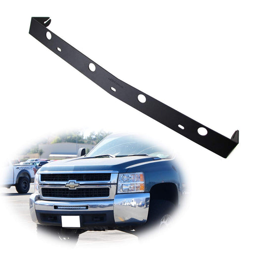 "Lower Bumper Insert Light Bar Mount Bracket For 11-13 Chevy Silverado 1500 & 07.5-10 2500 3500 HD 20"" LED Lightbars-iJDMTOY"