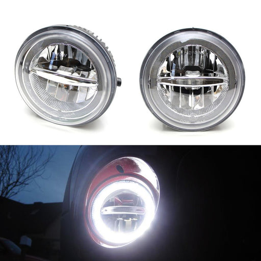 Xenon White LED Daytime Running Light Fog Lamps For Toyota Tundra Tacoma Sequoia or Solara, (4) CREE XB-D LED Lights as Fog Lights & (1) 10W Halo Ring as DRL-iJDMTOY