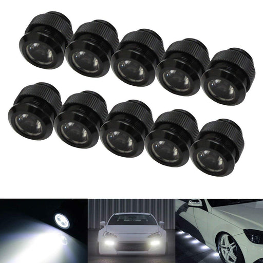 10pc 30W High Power Flexible LED Lighting Kit For Daytime Running Light or Under Car Puddle Light, 6000K Xenon White or 3000K Golden Amber-iJDMTOY