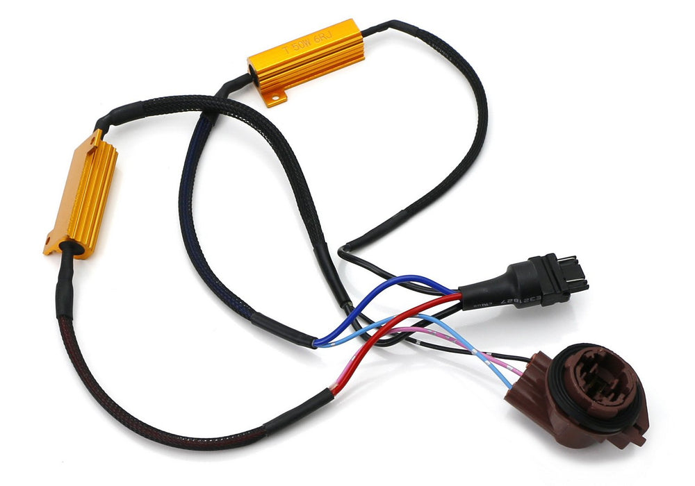 Hyper Flash/Bulb Out Error Fix Wiring Adapters For 3157 3057 3155 3357 3457 4157 LED Bulbs Turn Signal or Tail Brake Lights-iJDMTOY