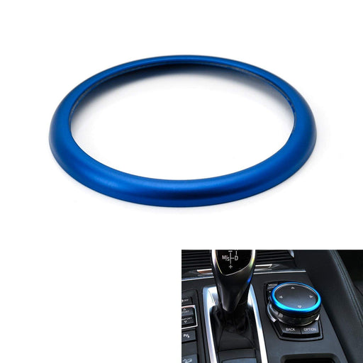 1pc Blue or Red Aluminum Ring For BMW 1 2 3 4 5 6 7 Series X3 X4 X5 X6 Center Console iDrive Multimedia Controller Knob (Fit All Fxx Chassis Codes)-iJDMTOY