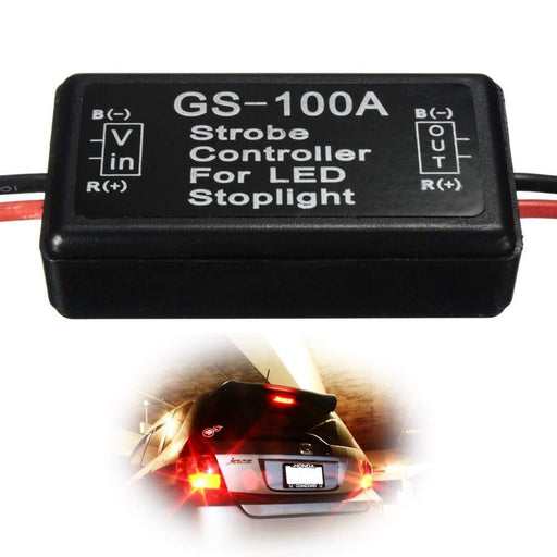 12V GS-100A LED Brake Stop Light Strobe Flash Module Controller Box For Car Truck 3rd Brake or High Mount Clearance Lamp-iJDMTOY