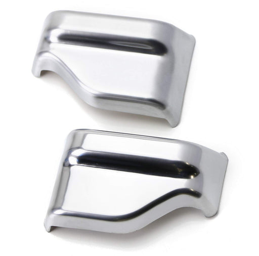 Satin Silver Front Seat Belt Shoulder Height Adjustment Button Cover Trims For Mercedes W205 C-Class W213 E-Class X156 GLA-Class X205 GLC-Class-iJDMTOY