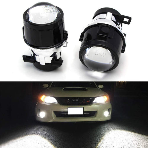 (2) OEM Replace Projector Fog Light Housings For 08-14 Subaru Impreza WRX/STi & 09-13 Subaru Forester, HID or LED Ready (Bulbs Not Included)-iJDMTOY