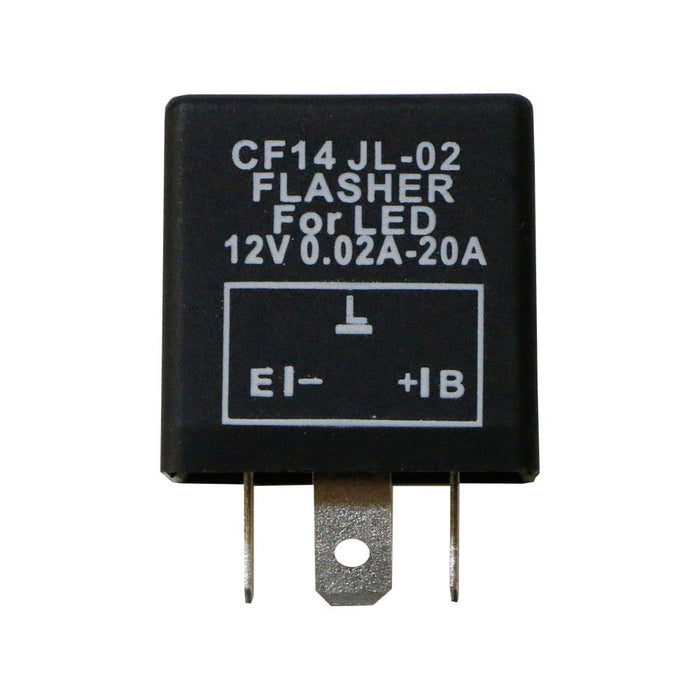 3-Pin CF14 EP35 Electronic LED Flasher Relay For LED Related Turn Signal Bulbs Hyper Flash Fix-iJDMTOY