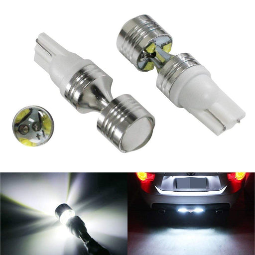 Front & Back Shine 30W High Power 168 194 2825 912 921 T10 LED Bulbs For Parking Lights or Backup Reverse Lights, powered by 6 pieces 5W CREE High Power LED Lights-iJDMTOY