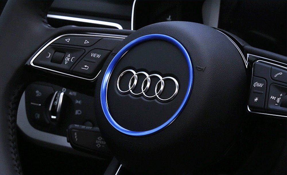 License Plate Scanner >> Audi Steering Ring Cover Car Interior Decoration ...