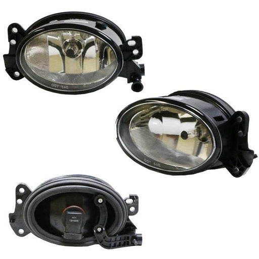 One Pair Driver Passenger Sides Fog Light Lamps w/H11 Halogen Bulbs For Mercedes-Benz C E R CLS ML Class, etc (OEM# 1698201556)-iJDMTOY